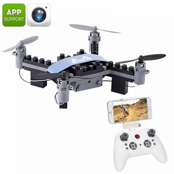 SMRC M3 Blocks DIY Camera Drone - FPV Camera, 6 Axis Gyro, Android + iOS App, Headless Mode, 3D Flip