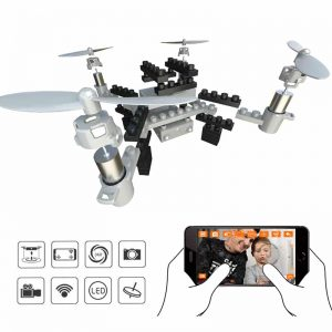 SMRC M3 Blocks DIY Camera Drone – FPV Camera, 6 Axis Gyro, Android + iOS App, Headless Mode, 3D Flip 6