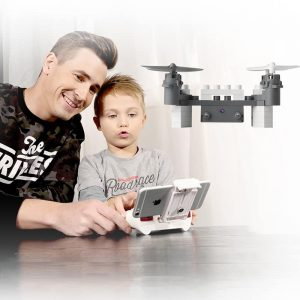 SMRC M3 Blocks DIY Camera Drone – FPV Camera, 6 Axis Gyro, Android + iOS App, Headless Mode, 3D Flip 2