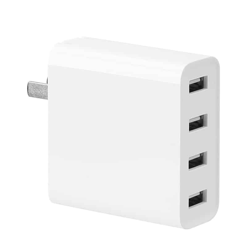Xiaomi USB Charger - 4 Ports, 2A Fast Charge, AC 100-240V, Worldwide Usage, Compact Design