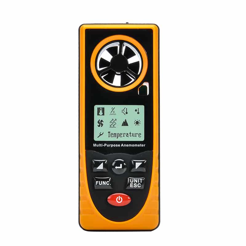 Portable Multipurpose Anemometer - Wind Speed, Temperature, Humidity, Wind Chill, Dew Point + More