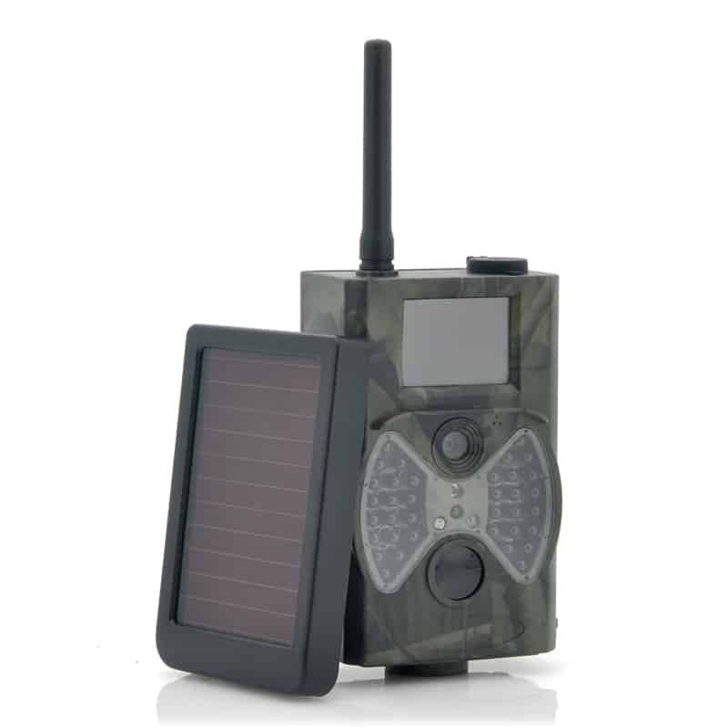 "Game Hunting Camera With Solar Panel ""Solar-Shot"" - 1440x1080, PIR Motion Detection, Night Vision, MMS Viewing"