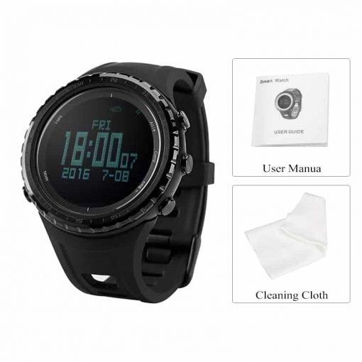 Sunroad FR803 Smart Watch - Bluetooth, 5 ATM Waterproof, Digital LED Backlight, Swiss Sensors, Altimeter, Barometer, Compass