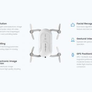 Dobby Folding 4K Camera Drone – 13MP Camera, Quad Core CPU, Image Stabilization, Auto Follow, Gesture + Voice Control, GPS 7