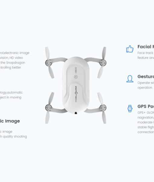 Dobby Folding 4K Camera Drone - 13MP Camera, Quad Core CPU, Image Stabilization, Auto Follow, Gesture + Voice Control, GPS