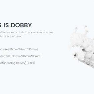 Dobby Folding 4K Camera Drone – 13MP Camera, Quad Core CPU, Image Stabilization, Auto Follow, Gesture + Voice Control, GPS 8