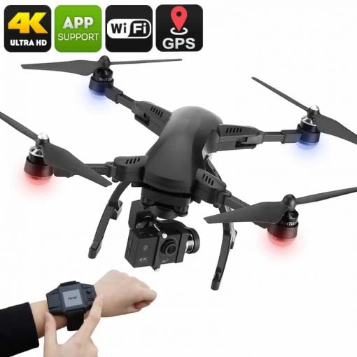 Drone Simtoo Dragonfly Pro - 4K Camera, Foldaway Arms, Follow Me, Point Of Interest, Panoramic Shot, Auto Hover, Takeoff / Land
