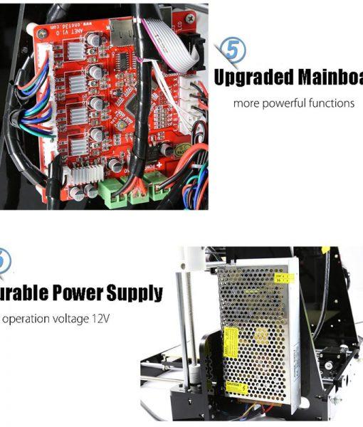 Anet A8 3D Printer Prusa i3 DIY Kit - Multiple Filament Types, Large Printing Volume, 0.004mm Precision, SD Card Slot