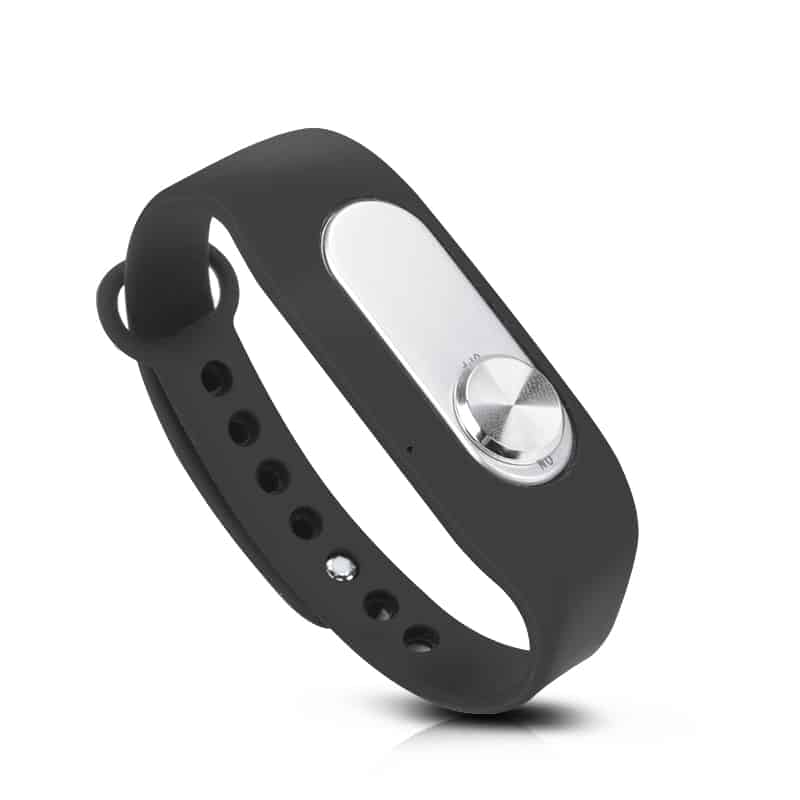 4GB Bracelet Voice Recorder - 20 Hours Usage, Up to 70 Hours Audio Storage, One-Key Recording, WAV