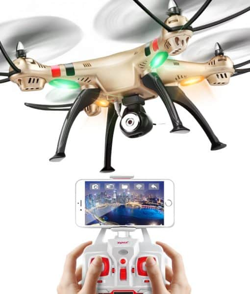 SYMA X8HW FPV Quad Copter - 6-Axis Flight Control, 3D Flip, Headless Mode, Auto Hovering, 1MP Camera, Wi-Fi