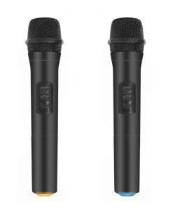 HD-Hynudal Karaoke Machine - Echo Mixer, Two Wireless Mics, YAMAHA Chipset, Supports Phone + PC