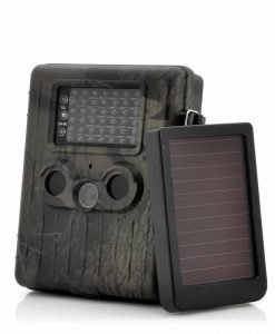 "Game Camera With Rechargeable Battery + Solar Panel ""SolarTrail"" - 1080p HD video, PIR Motion Detection, MMS View"