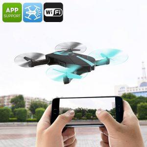 JYO18 Drone - Foldable,  Camera, 6 Axis Gyro, FPV, 30M Range, Smartphone Control App