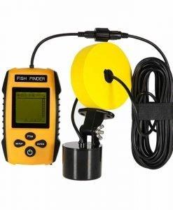 Portable Fish Finder - Sonar Technology, 100m Depth Range, Fish Alarm, Adjustable Sensitivity, Depth Scale, Fish Size Detection