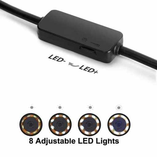 7M Wireless Endoscope - Waterproof, WiFi, 6 LED Lights, iOS + Android + Windows Support, 720p Resolution, 600mAh