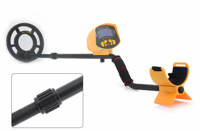 Metal Detector 'Treasure Hunter' - 8.2 Inch Water Resistant Coil. LCD Display, Detects All Metals, Adjustable Stem