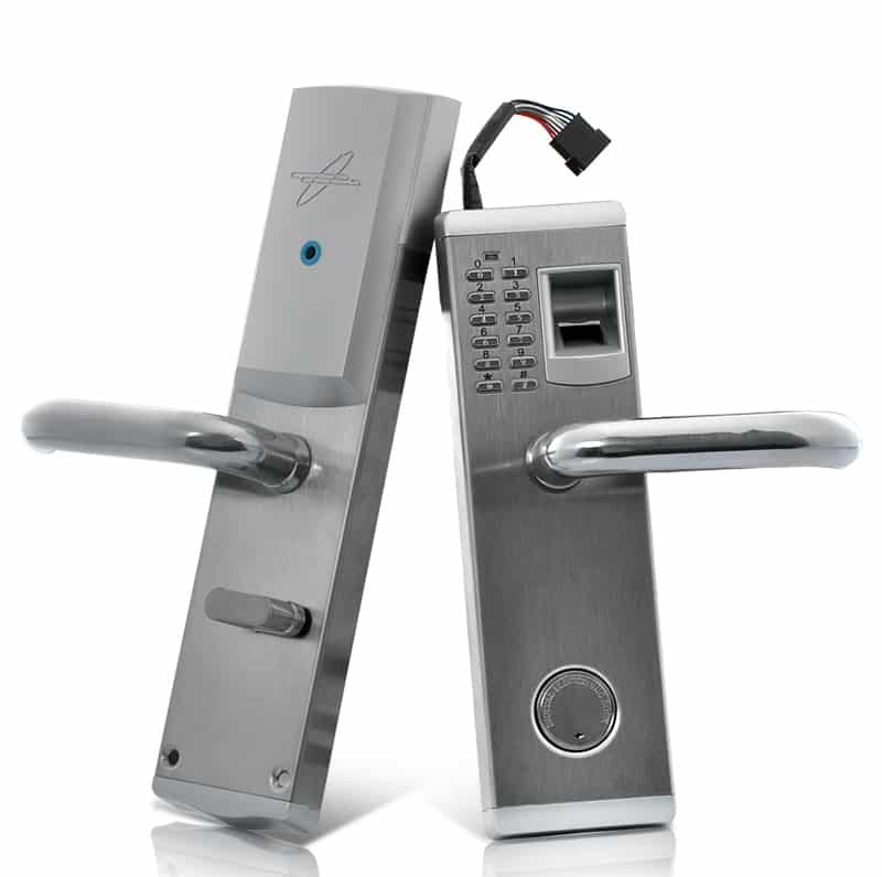"Biometric Fingerprint Door Lock ""Aegis"" - Deadbolt, Right Handed Installation"