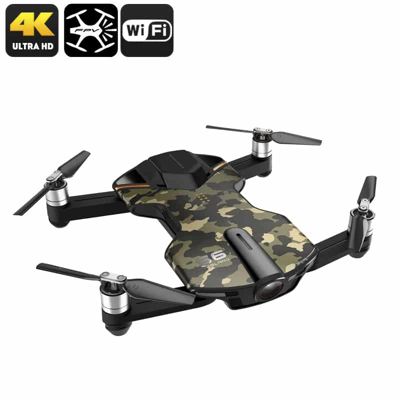 Wingsland S6 Premium Drone - Foldable Design, 4 Flight Modes, 4K Camera, Home Return Key, Wi-Fi, FPV (Camouflage)