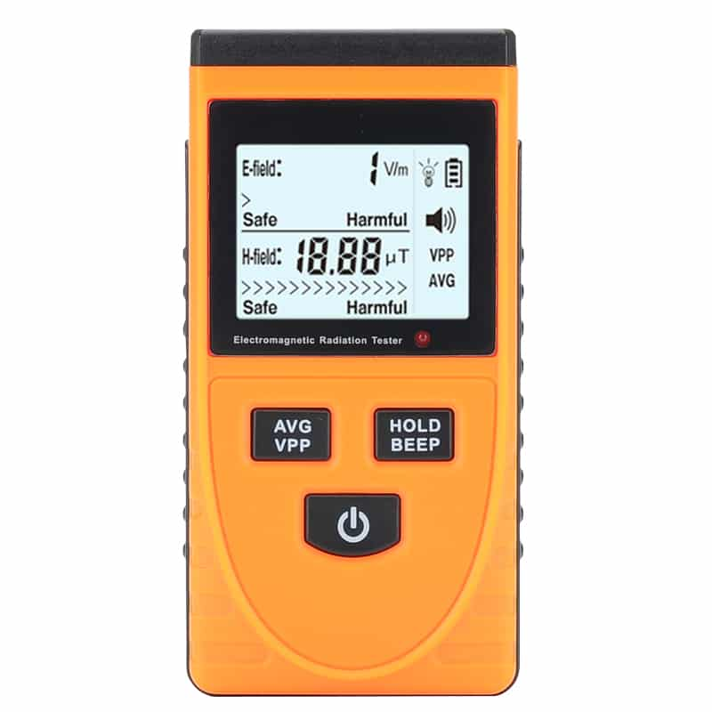 Electromagnetic Frequency Radiation Detector - 5Hz To 3500MHz,  1 To 1999V/m Range, LCD Display, Ghost Detector
