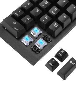 Numeric Keypad - 22 Keys, Blue Mechanical Key Switch, Plug And Play, USB 2.0, For Windows, Android, Linux, iOS