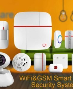 Vcare Dual Network Smart Home Security System - iOS and Android Apps, Max 100 Users, IP Camera, Door/Window Sensor, PIR