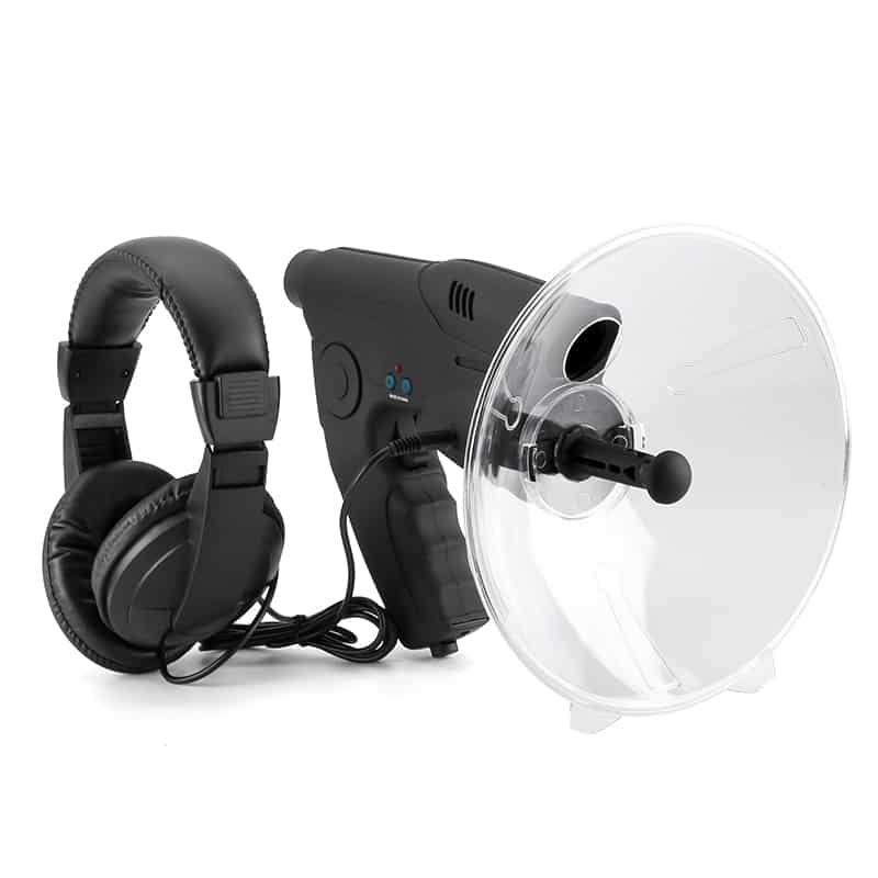 Sound Amplifier - 100m Range, 8x Zoom Monocular, Sound Recording, Playback, 3.5mm Headphone Jack, 9V Battery