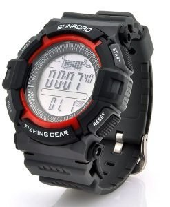 Digital Fishing Barometer Watch - Altimeter, Thermometer