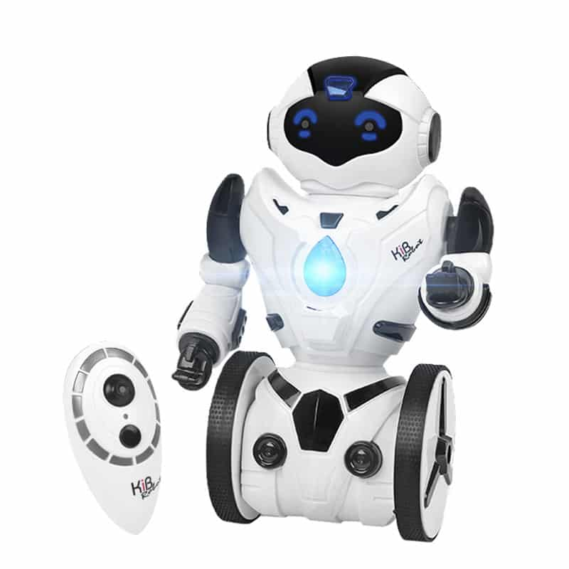 Auto Balancing RC Robot - Five Characteristics, Walking, Load Bearing, Fight Mode, Gesture Sensors, Dancing and Singing (White)