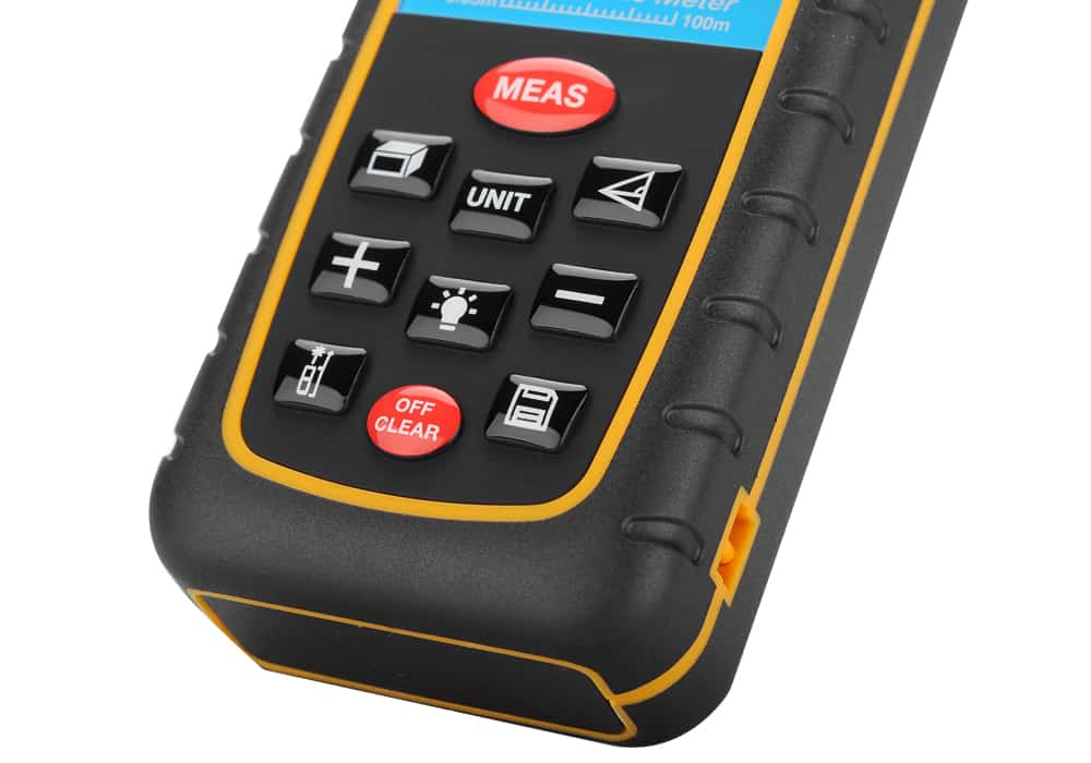 Digital Laser Tape Measure To 100 Meter Range Spirit Level Ip54 The Sup Desk Cheap