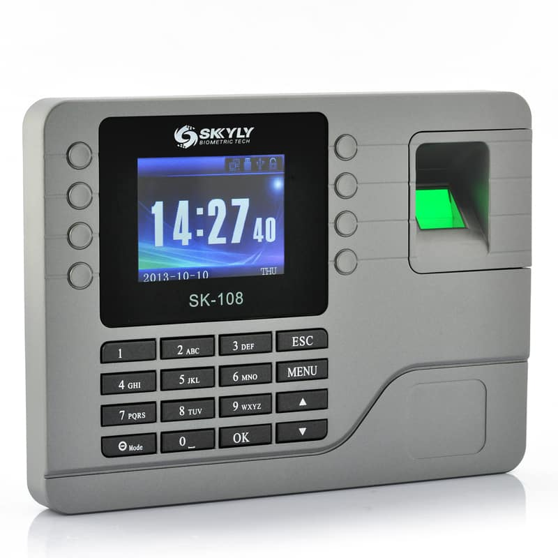 Color Screen Fingerprint Time Attendance System - 2.8 Inch,  80000 Capacity Record