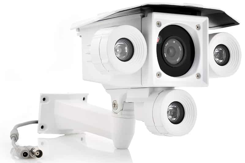 Outdoor Weatherproof CCTV Camera - 3x Array LEDs, 1/3 Inch Color CMOS, 1000TVL, IR Cut, 60 Meter Night Vision