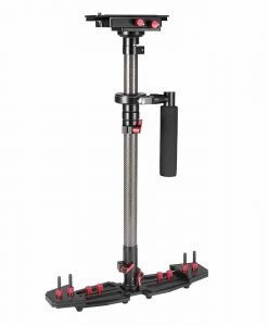 HD2000 Handheld Camera Stabilizer - Adjustable Mounts + Counter Weights, 53-78.5cm, 5-8kg Weight Bearing Capability