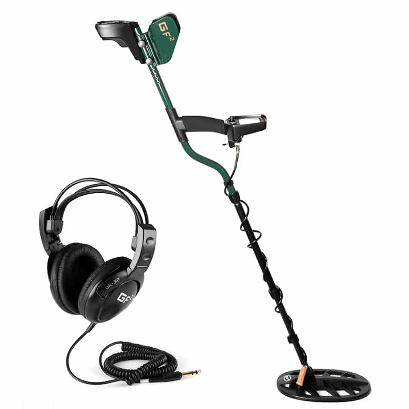 Professional Metal Detector ''Gold Finder 2 '' - 3.8 Inch LCD Screen, Sensitivity Adjustment, 40h  Battery Life, Earphone Jack