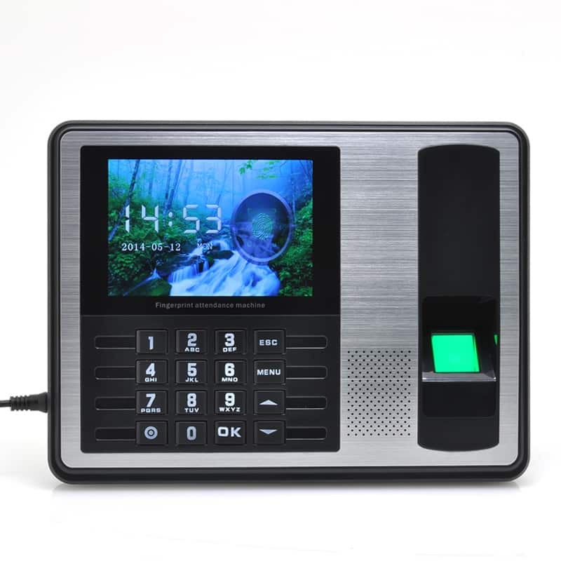 Self-Service Fingerprint Time Attendance - 4 Inch TFT Screen, 1000 Fingerprint Capacity