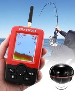 Wireless Fish Finder - Sonar Technology, 36m Depth, Adjustable Sensitivity, Fish Size, Water Temperature, Fish Alarm