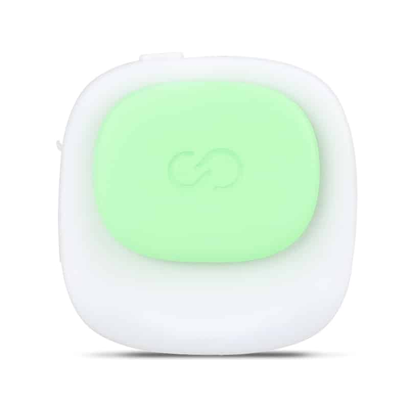 Digital Posture Coach ISWEO TIRAMI-SU - Skin Safe, Radiation Free, Splashproof, 30 Day Standby, No App, Magnetic Clip (Green)