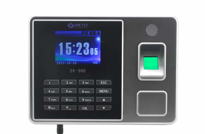 Time Attendance Fingerprint System - 2.8 Inch Color Screen, LAN + USB Ports