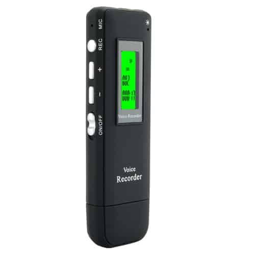 Digital Voice and Telephone Recorder - 4GB Memory, USB Drive, MP3 Player
