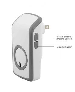 Battery-Free Wireless Doorbell - 30m Range, 6 Volumes, 48 Ring Tones, 20000 Click Lifetime, Plug And Play Design