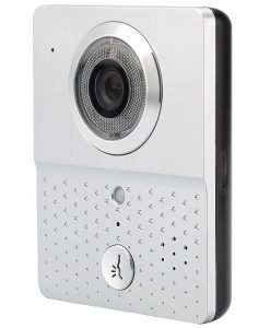 Wi-Fi Video Door Intercom + Door Bell - Night Vision, iOS + Android App, Remote Door Unlock, Motion Detection, Video Recording
