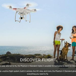DJI Phantom P3 Drone – 2K Camera, 12MP Pictures, Stable Footage, 720P Real-Time View, 25 Min Flight Time, GPS 7