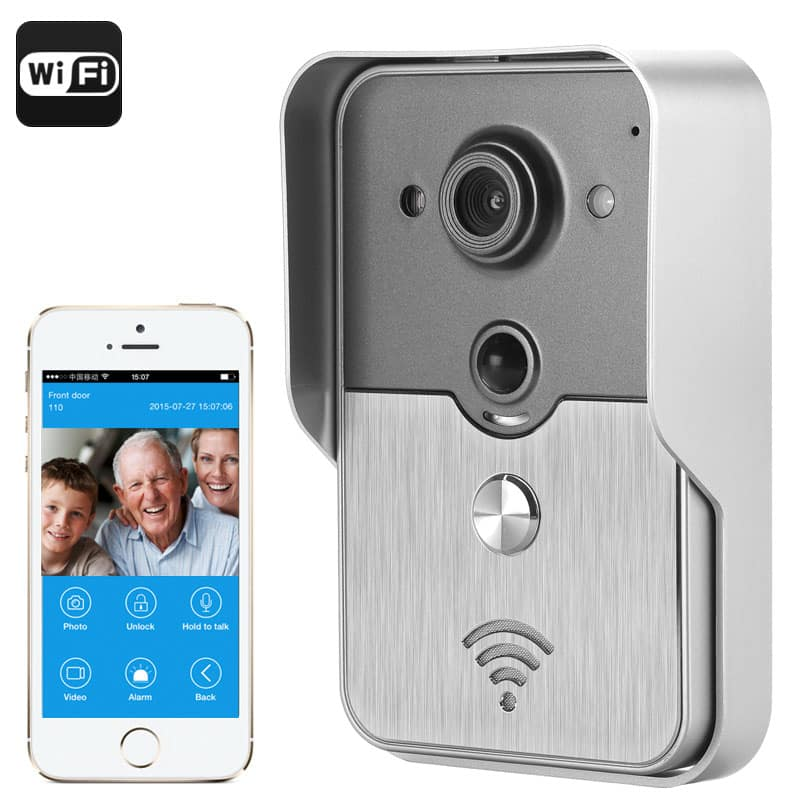 Video Door Intercom System - 1/4 Inch COMS Sensor, iOS + Android Support, Night Vision, POE, PIR Motion Detection