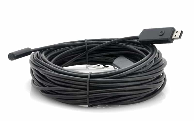 USB Inspection Camera - 15 Meter Cable, 4 LEDs, Waterproof