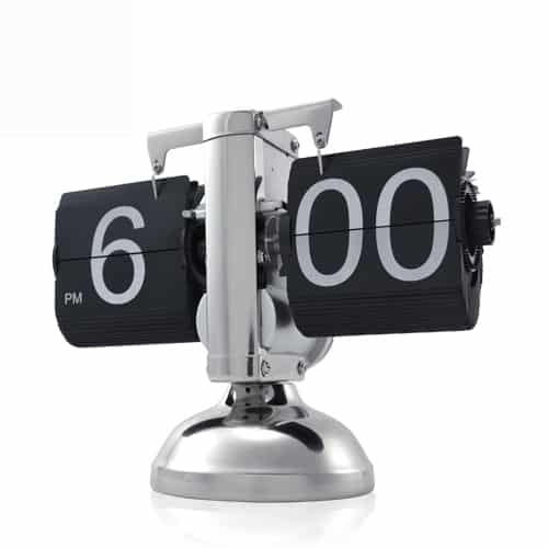 Retro Flip Down Clock - Internal Gear Operated