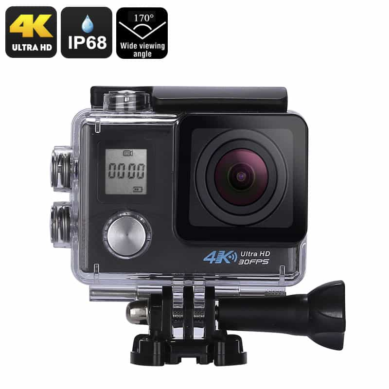 4k sports action camera sony 16mp 1 3 2 inch cmos sensor. Black Bedroom Furniture Sets. Home Design Ideas