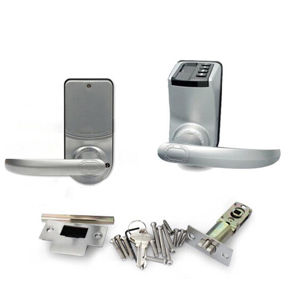 Lachco Fingerprint Door Lock Access Control Adel 3398 Handle Trinity Gold Digital Keypad Keyless Electronic Biometric Password Smart