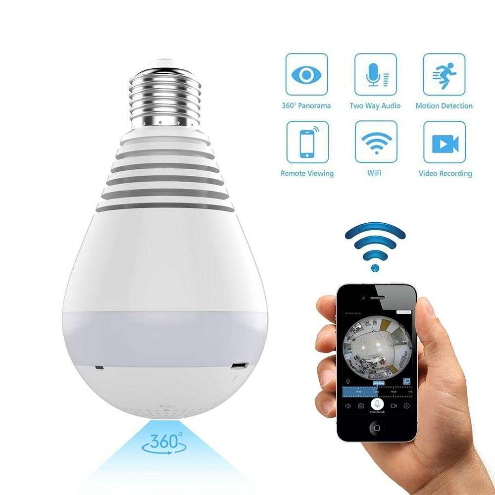 Wifi Ip Camera 1080p Bulb Light 360 Degree Wi Fi Fish Eye