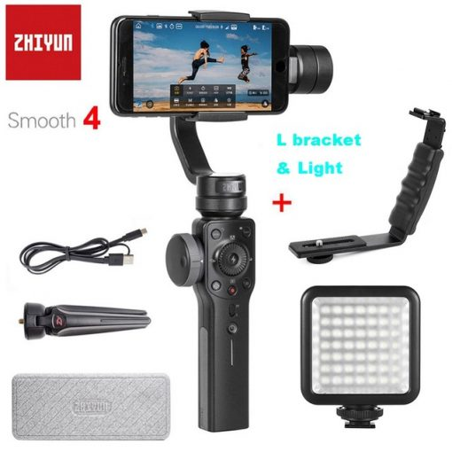 reputable site b122e c7f0b Zhiyun Smooth 4 3-Axis Handheld Smartphone Gimbal Stabilizer for iPhone X  8Plus 8 7Plus 7 6S Samsung S9 S8 S7 & Action Camera
